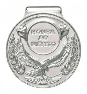 Medalha redonda Ref. 059 - diâmetro 59mm - ouro/prata/bronze