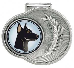 Medalha redonda Ref. 545 - 50x43mm - ouro/prata/bronze