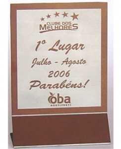 Placas - Troféu Personalizado - Placa em Aço com 2 Dobras